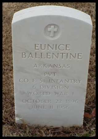 BALLENTINE (VETERAN WWI), EUNICE - Pulaski County, Arkansas | EUNICE BALLENTINE (VETERAN WWI) - Arkansas Gravestone Photos