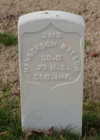 BALLOW (VETERAN UNION), HANKERSON - Pulaski County, Arkansas   HANKERSON BALLOW (VETERAN UNION) - Arkansas Gravestone Photos