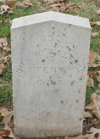 BALRIDGE (VETERAN CSA), JOHN W - Pulaski County, Arkansas   JOHN W BALRIDGE (VETERAN CSA) - Arkansas Gravestone Photos