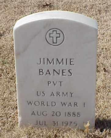 BANES (VETERAN WWI), JIMMIE - Pulaski County, Arkansas | JIMMIE BANES (VETERAN WWI) - Arkansas Gravestone Photos