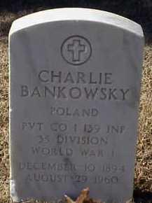 BANKOWSKY  (VETERAN WWI), CHARLIE - Pulaski County, Arkansas   CHARLIE BANKOWSKY  (VETERAN WWI) - Arkansas Gravestone Photos