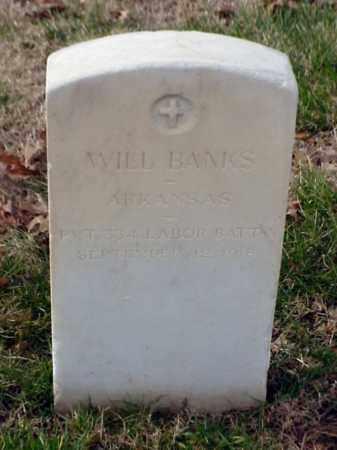 BANKS (VETERAN WWI), WILL - Pulaski County, Arkansas   WILL BANKS (VETERAN WWI) - Arkansas Gravestone Photos