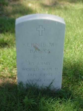 BANKS (VETERAN WWII), ERNIE M - Pulaski County, Arkansas | ERNIE M BANKS (VETERAN WWII) - Arkansas Gravestone Photos