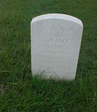 BANKS (VETERAN WWII), GRANT - Pulaski County, Arkansas | GRANT BANKS (VETERAN WWII) - Arkansas Gravestone Photos