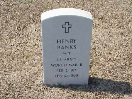 BANKS (VETERAN WWII), HENRY - Pulaski County, Arkansas | HENRY BANKS (VETERAN WWII) - Arkansas Gravestone Photos