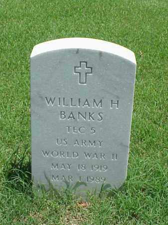 BANKS (VETERAN WWII), WILLIAM H - Pulaski County, Arkansas   WILLIAM H BANKS (VETERAN WWII) - Arkansas Gravestone Photos