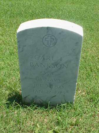 BANKSON (VETERAN), CARL E - Pulaski County, Arkansas | CARL E BANKSON (VETERAN) - Arkansas Gravestone Photos