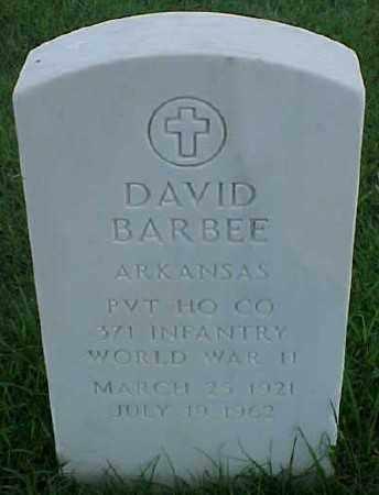 BARBEE (VETERAN WWII), DAVID - Pulaski County, Arkansas | DAVID BARBEE (VETERAN WWII) - Arkansas Gravestone Photos