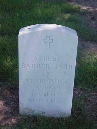 BARBER, JR, III (VETERAN KOR), ALBERT - Pulaski County, Arkansas   ALBERT BARBER, JR, III (VETERAN KOR) - Arkansas Gravestone Photos
