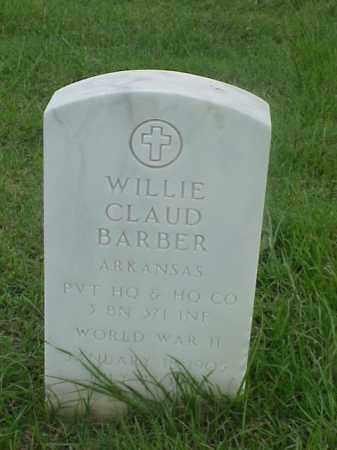 BARBER (VETERAN WWII), WILLIE CLAUD - Pulaski County, Arkansas   WILLIE CLAUD BARBER (VETERAN WWII) - Arkansas Gravestone Photos