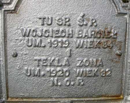 BARGIEL, WOJCIECH  (CLOSE UP) - Pulaski County, Arkansas | WOJCIECH  (CLOSE UP) BARGIEL - Arkansas Gravestone Photos