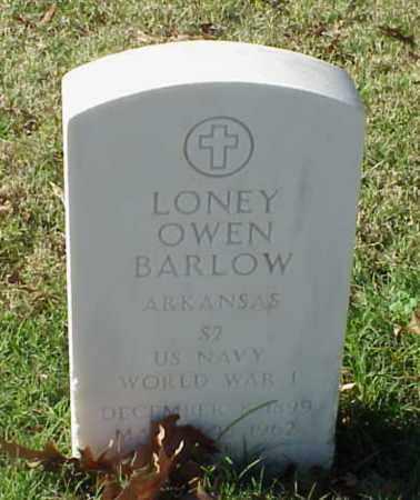 BARLOW (VETERAN WWI), LONEY OWEN - Pulaski County, Arkansas   LONEY OWEN BARLOW (VETERAN WWI) - Arkansas Gravestone Photos