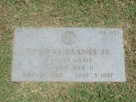 BARNES, JR (VETERAN WWII), THOMAS - Pulaski County, Arkansas | THOMAS BARNES, JR (VETERAN WWII) - Arkansas Gravestone Photos