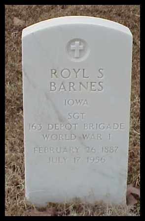 BARNES (VETERAN WWI), ROYL S - Pulaski County, Arkansas | ROYL S BARNES (VETERAN WWI) - Arkansas Gravestone Photos