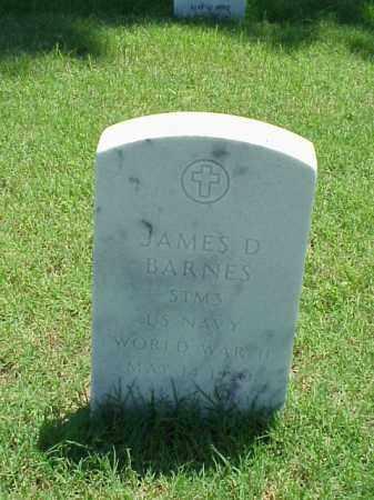 BARNES (VETERAN WWII), JAMES D - Pulaski County, Arkansas | JAMES D BARNES (VETERAN WWII) - Arkansas Gravestone Photos