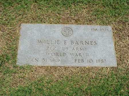 BARNES (VETERAN WWII), WILLIE E - Pulaski County, Arkansas | WILLIE E BARNES (VETERAN WWII) - Arkansas Gravestone Photos