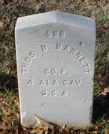 BARNETT (VETERAN CSA), THOMAS B - Pulaski County, Arkansas | THOMAS B BARNETT (VETERAN CSA) - Arkansas Gravestone Photos