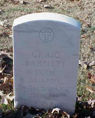 BARNETT (VETERAN WWI), CRAIG - Pulaski County, Arkansas | CRAIG BARNETT (VETERAN WWI) - Arkansas Gravestone Photos