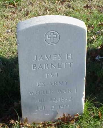 BARNETT (VETERAN WWI), JAMES H - Pulaski County, Arkansas | JAMES H BARNETT (VETERAN WWI) - Arkansas Gravestone Photos
