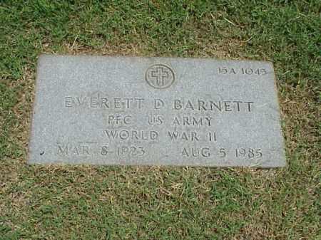 BARNETT (VETERAN WWII), EVERETT D - Pulaski County, Arkansas | EVERETT D BARNETT (VETERAN WWII) - Arkansas Gravestone Photos