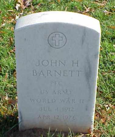BARNETT (VETERAN WWII), JOHN H - Pulaski County, Arkansas | JOHN H BARNETT (VETERAN WWII) - Arkansas Gravestone Photos