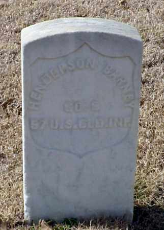 BARNEY (VETERAN UNION), HENDERSON - Pulaski County, Arkansas   HENDERSON BARNEY (VETERAN UNION) - Arkansas Gravestone Photos