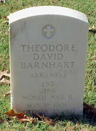 BARNHART (VETERAN WWII), THEODORE DAVID - Pulaski County, Arkansas | THEODORE DAVID BARNHART (VETERAN WWII) - Arkansas Gravestone Photos