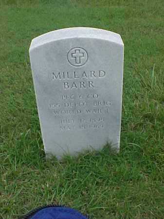 BARR (VETERAN WWI), MILLARD - Pulaski County, Arkansas | MILLARD BARR (VETERAN WWI) - Arkansas Gravestone Photos