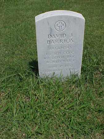 BARRIOS (VETERAN WWI), DAVID J - Pulaski County, Arkansas   DAVID J BARRIOS (VETERAN WWI) - Arkansas Gravestone Photos