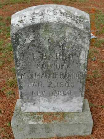 BARRON, T L - Pulaski County, Arkansas | T L BARRON - Arkansas Gravestone Photos
