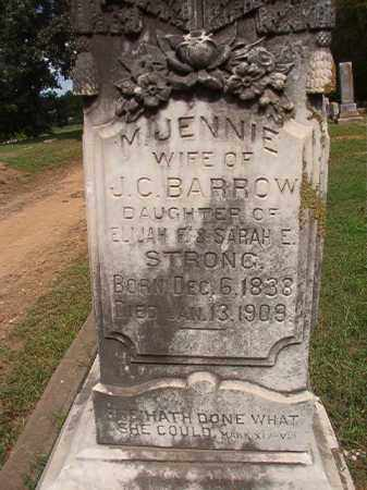 STRONG BARROW, M JENNIE - Pulaski County, Arkansas | M JENNIE STRONG BARROW - Arkansas Gravestone Photos