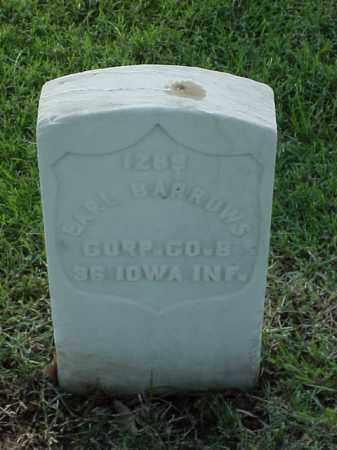 BARROWS (VETERAN UNION), EARL - Pulaski County, Arkansas | EARL BARROWS (VETERAN UNION) - Arkansas Gravestone Photos