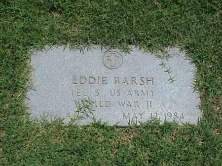 BARSH (VETERAN WWII), EDDIE - Pulaski County, Arkansas | EDDIE BARSH (VETERAN WWII) - Arkansas Gravestone Photos