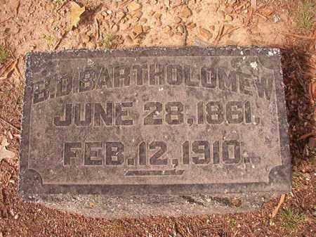 BARTHOLOMEW, B D - Pulaski County, Arkansas   B D BARTHOLOMEW - Arkansas Gravestone Photos