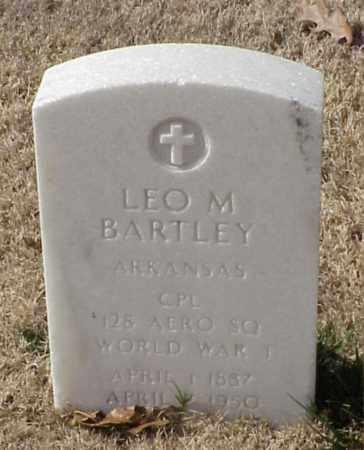 BARTLEY (VETERAN WWI), LEO M - Pulaski County, Arkansas | LEO M BARTLEY (VETERAN WWI) - Arkansas Gravestone Photos