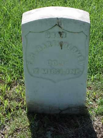 BARTOLOMEW (VETERAN UNION), FRANCIS H - Pulaski County, Arkansas | FRANCIS H BARTOLOMEW (VETERAN UNION) - Arkansas Gravestone Photos