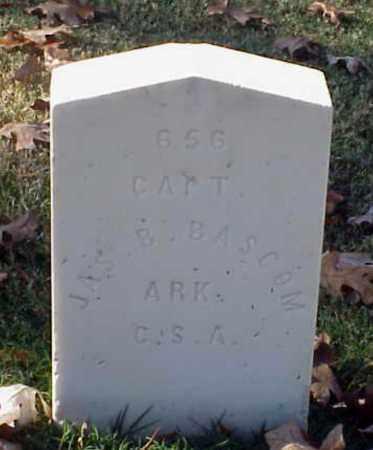 BASCOM (VETERAN CSA), JAMES B - Pulaski County, Arkansas   JAMES B BASCOM (VETERAN CSA) - Arkansas Gravestone Photos