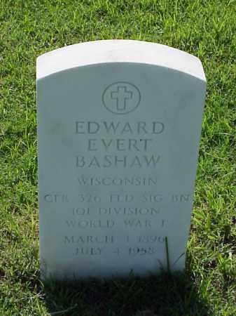 BASHAW (VETERAN WWI), EDWARD EVERT - Pulaski County, Arkansas | EDWARD EVERT BASHAW (VETERAN WWI) - Arkansas Gravestone Photos