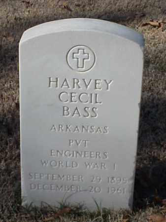 BASS (VETERAN WWI), HARVEY CECIL - Pulaski County, Arkansas   HARVEY CECIL BASS (VETERAN WWI) - Arkansas Gravestone Photos