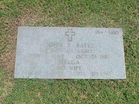 BATES (VETERAN), JOHN E - Pulaski County, Arkansas | JOHN E BATES (VETERAN) - Arkansas Gravestone Photos
