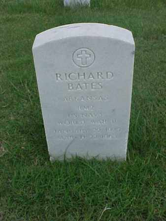 BATES (VETERAN WWII), RICHARD - Pulaski County, Arkansas | RICHARD BATES (VETERAN WWII) - Arkansas Gravestone Photos