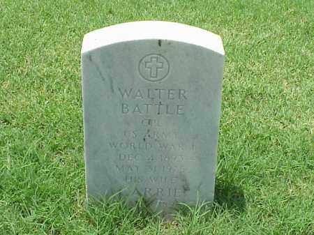 BATTLE (VETERAN WWI), WALTER - Pulaski County, Arkansas   WALTER BATTLE (VETERAN WWI) - Arkansas Gravestone Photos