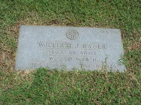 BAUER (VETERAN WWII), WILLIAM J - Pulaski County, Arkansas | WILLIAM J BAUER (VETERAN WWII) - Arkansas Gravestone Photos