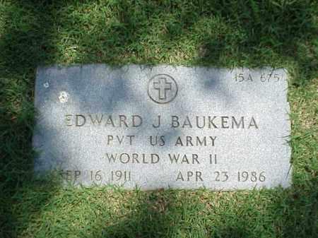 BAUKEMA (VETERAN WWII), EDWARD J - Pulaski County, Arkansas   EDWARD J BAUKEMA (VETERAN WWII) - Arkansas Gravestone Photos