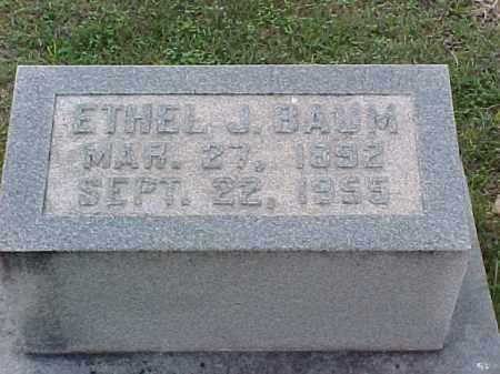BAUM, ETHEL J - Pulaski County, Arkansas   ETHEL J BAUM - Arkansas Gravestone Photos
