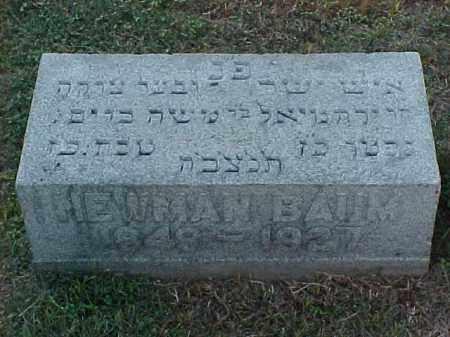 BAUM, NEWMAN - Pulaski County, Arkansas | NEWMAN BAUM - Arkansas Gravestone Photos