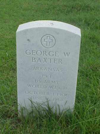 BAXTER (VETERAN WWII), GEORGE W - Pulaski County, Arkansas | GEORGE W BAXTER (VETERAN WWII) - Arkansas Gravestone Photos