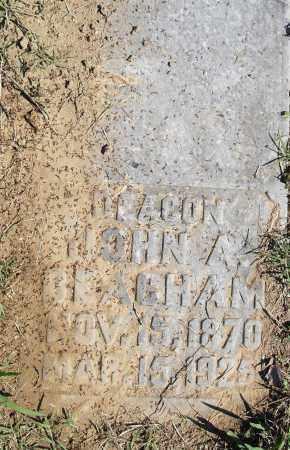 BEACHAM, JOHN A - Pulaski County, Arkansas | JOHN A BEACHAM - Arkansas Gravestone Photos