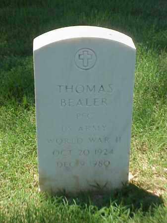 BEALER (VETERAN WWII), THOMAS - Pulaski County, Arkansas   THOMAS BEALER (VETERAN WWII) - Arkansas Gravestone Photos