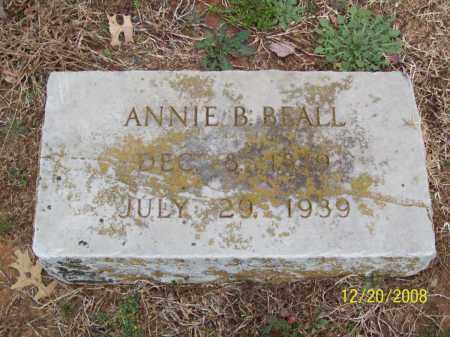 BEALL, ANNIE B. - Pulaski County, Arkansas | ANNIE B. BEALL - Arkansas Gravestone Photos